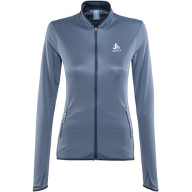 Odlo FLI Full Zip Midlayer Women diving navy-blue indigo stripes